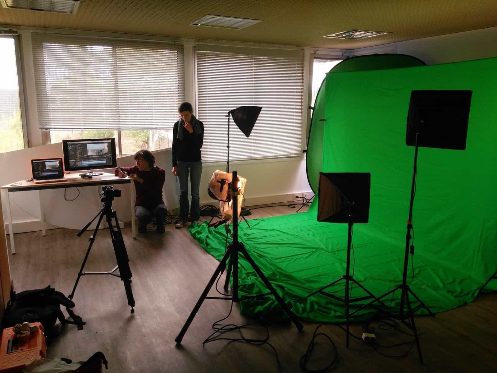 essais vidéo dans bureau privatif de LaCOWO
