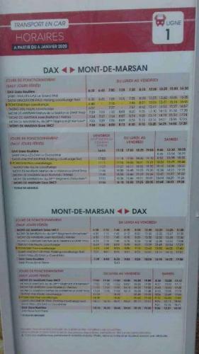 igne1 liaison entre Dax et Mont de Marsan Arrêt à environ 200 mètres de LaCoWo